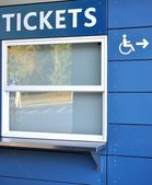 Tickets sell window — Stock Photo