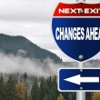 Stock Photo: Changes ahead road sign