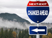 Changes ahead road sign — Stok fotoğraf