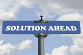 Solution ahead road sign — Stock Photo