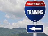 Training road sign — Stock Photo