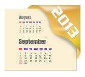 2013 September calendar — Stock Photo