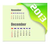2013 December calendar — Stock Photo