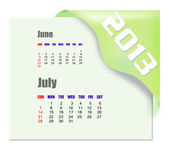 2013 July calendar — Stock Photo