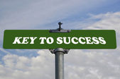 Key to success road sign — Stock Photo