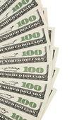 One hundred dollar background — Stock Photo
