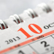 2013 October calendar — Stock Photo #16215161