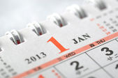 2013 January calendar — Stock Photo