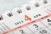 2013 April calendar — Stock Photo