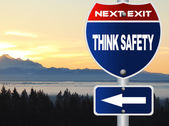 Think safety road sign — Stock Photo