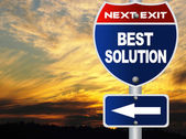 Best solution road sign — Stock Photo