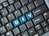Diy on keyboard — Stock Photo