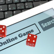 Playing dice for game online - ストック写真