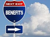 Výhody dopravní značka — Stock fotografie
