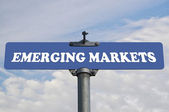 Emerging markets road sign — Stock Photo
