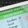 Customer service online survey - Foto de Stock