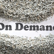 Stock Photo: On demand -- Treasure Word Series