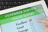 онлайн опрос клиентов службы — Стоковое фото
