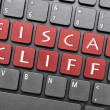 Fiscal cliff on keyboard — Stock Photo