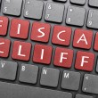 Fiscal cliff on keyboard - Foto de Stock
