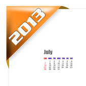 2013 July calendar — Stock Photo
