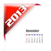 календарь ноября 2013 — Стоковое фото