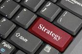 Strategie na klávesnici — Stock fotografie