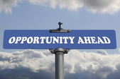 Opportunity ahead road sign — Stock Photo