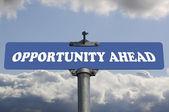 Segno della strada avanti opportunità — Foto Stock