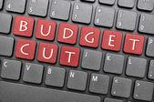 Budget cut on keyboard — Stock Photo