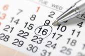 Calendar-Setting a date — Stock Photo