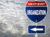 Organization road sign — Stock Photo