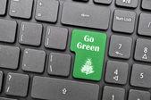 Przejdź zielony na klawiaturze — Zdjęcie stockowe