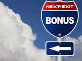 Bonus road sign — Stock Photo
