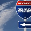 Employment road sign — Stock Photo