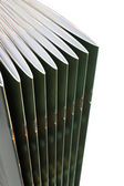 Stack of black covered magazines — Stock Photo