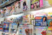 Shelves of magazines — Stock fotografie