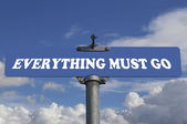 Everything must go road sign — Stock Photo