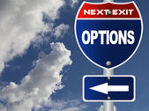 Options road sign — Stock Photo