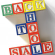 Back to school sale — Stock Photo