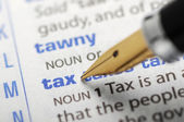 Tax - Dictionary Series — Stock Photo