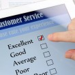 Customer service on-line survey — Stock Photo #24175693