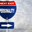 Personality road sign — Stock Photo