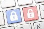 Lock symbol on keyboard — Stock Photo