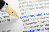Testimonial - Dictionary Series — Stock Photo