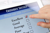 Customer service on-line survey — Stock Photo