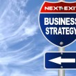 Stock Photo: Business strategy road sign