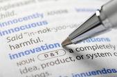 Innovation - Dictionary Series — Stock Photo