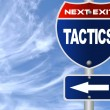 Tactics road sign — Stock Photo