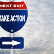 Take action road sign — Foto Stock